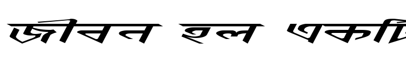 Preview of AnandapatraEMJ Italic