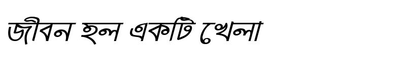 Preview of ArhialkhanMJ Italic