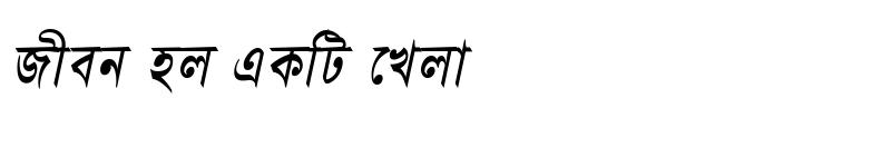 Preview of BhagirathiMJ Italic