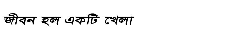 Preview of BorakMJ Bold Italic