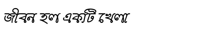 Preview of BorhalMJ Bold Italic