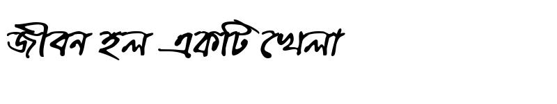 Preview of ChandrabatiMJ Bold Italic