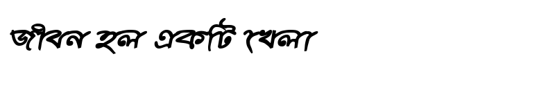 Preview of ChitraMJ Bold Italic