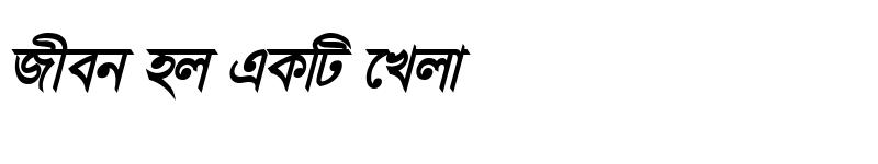 Preview of ChondanaMJ Bold Italic