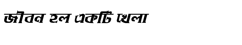 Preview of DhakarchithiMJ Bold Italic