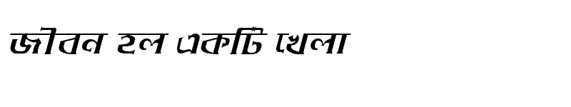 Preview of DhakarchithiMJ Italic