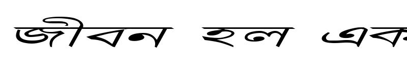 Preview of DhanshirhiEMJ Italic