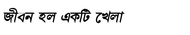 Preview of DhanshirhiMJ BoldItalic