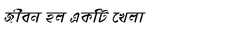Preview of DhonooMJ Italic