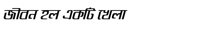 Preview of GoomtiMJ Bold Italic