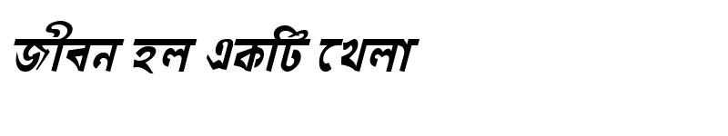 Preview of GoraiMJ Bold Italic