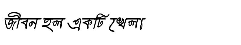 Preview of HooglyMJ Italic