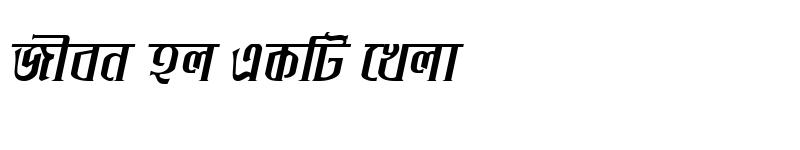 Preview of IchamotiMJ Bold Italic