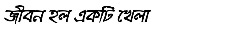 Preview of KalindiMJ Bold Italic