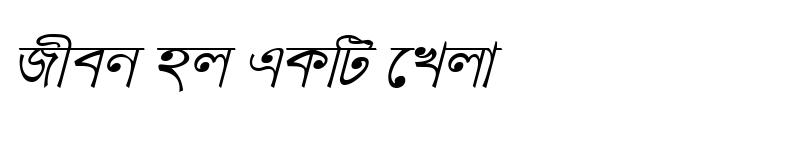 Preview of KanchanMJ Italic