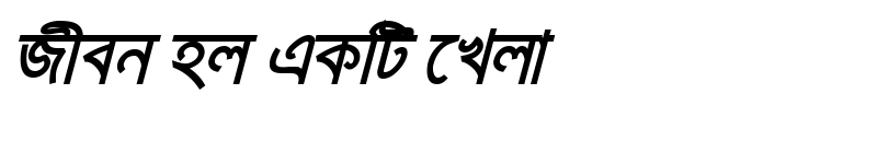 Preview of KarnaphuliMJ Bold Italic