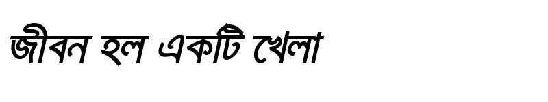Preview of KarnaphuliMJ BoldItalic
