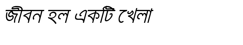 Preview of KarnaphuliMJ Italic