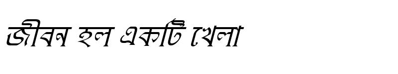 Preview of KushiaraMJ Italic