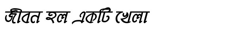 Preview of MohanondaMJ Bold Italic