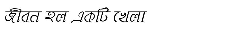 Preview of MohanondaMJ Italic