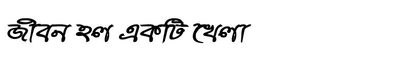 Preview of RupshaMJ Bold Italic