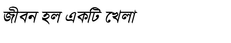 Preview of SamakalMJ Bold Italic