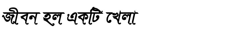 Preview of SutonnySushreeMJ Bold Italic