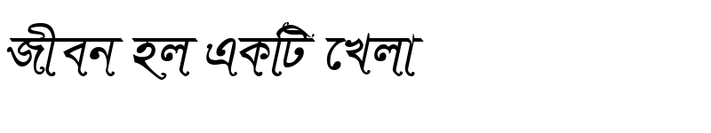 Preview of SutonnySushreeMJ Italic