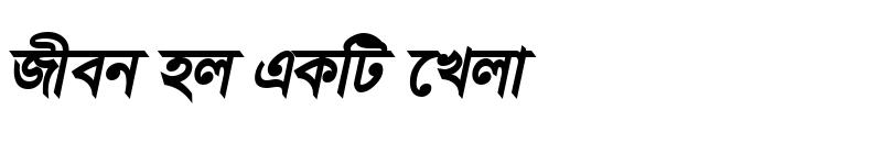 Preview of TangonMotaMJ Bold Italic