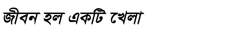 Preview of TonnyBanglaMJ Bold Italic