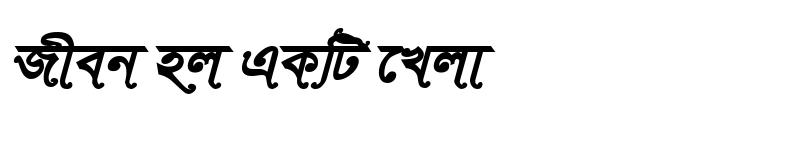 Preview of TonnySushreeMJ Bold Italic